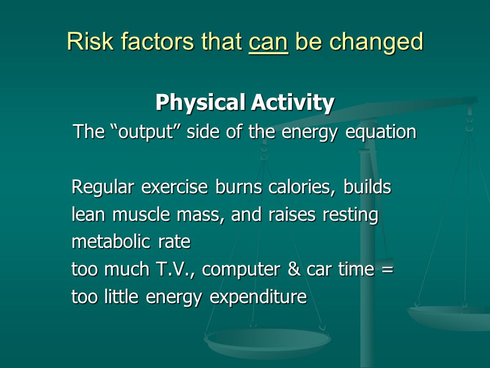 Risk factors that can be changed