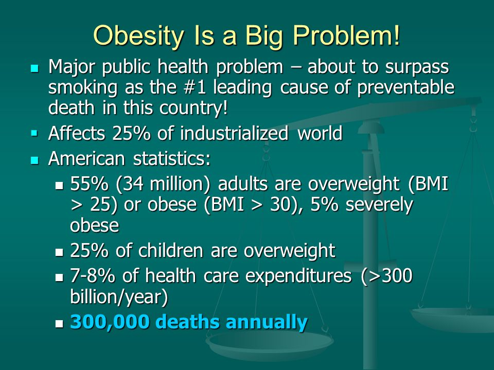 Obesity Is a Big Problem!