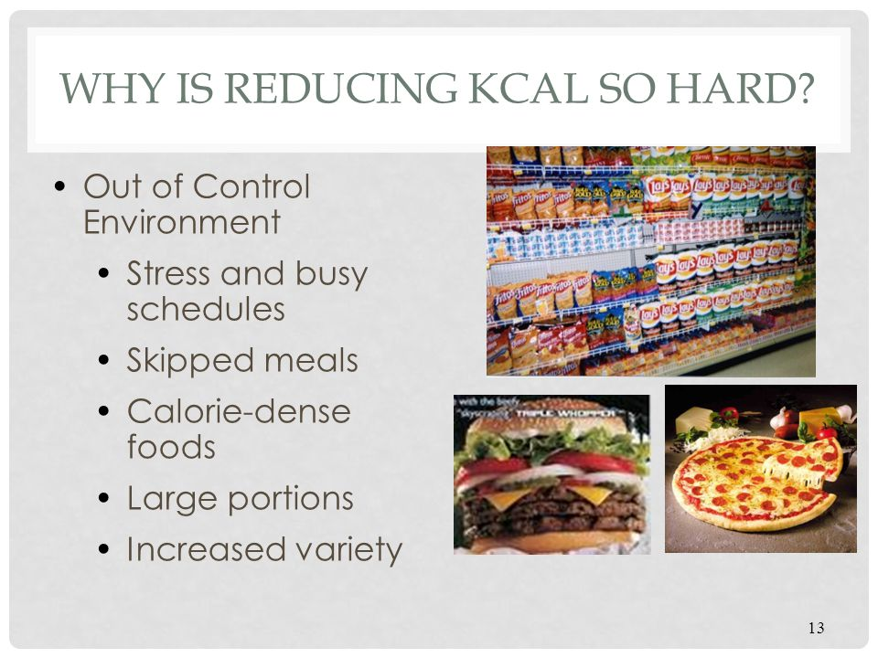 Why is reducing kcal so hard