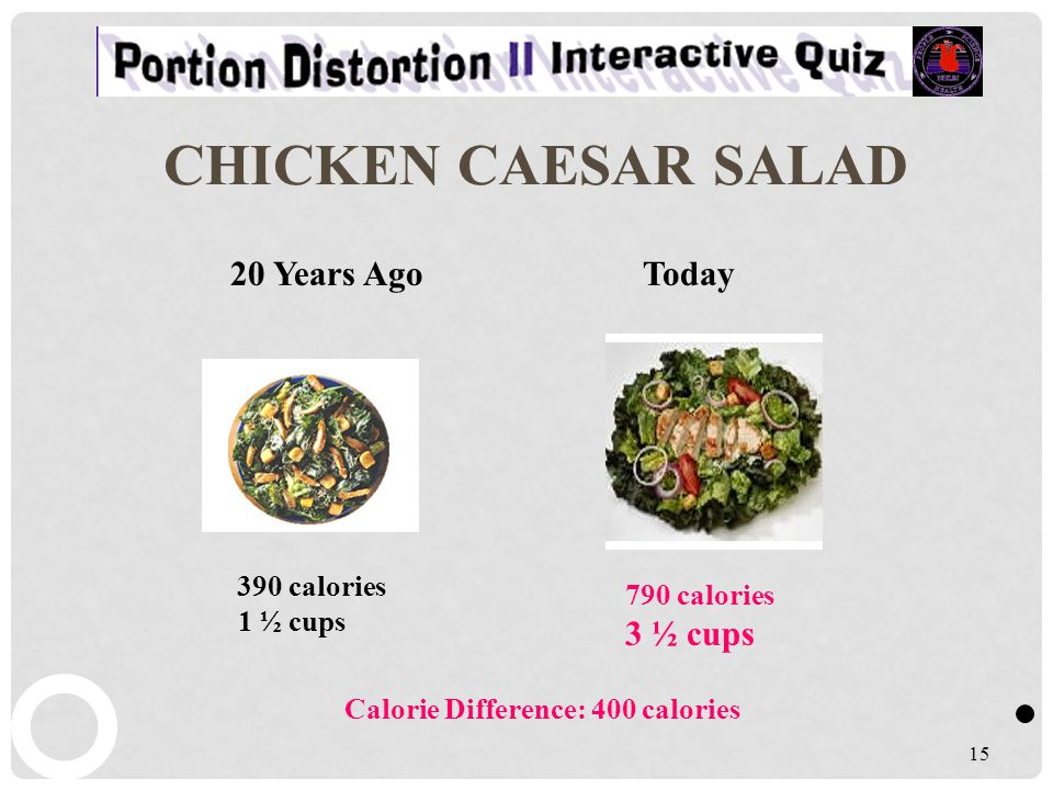 CHICKEN CAESAR SALAD 20 Years Ago Today 3 ½ cups 390 calories