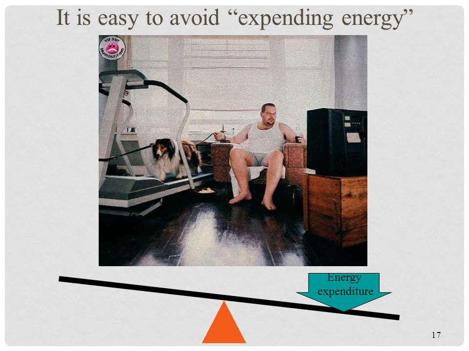 It is easy to avoid expending energy