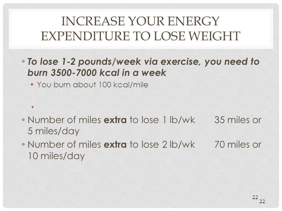 Increase your energy expenditure to lose weight