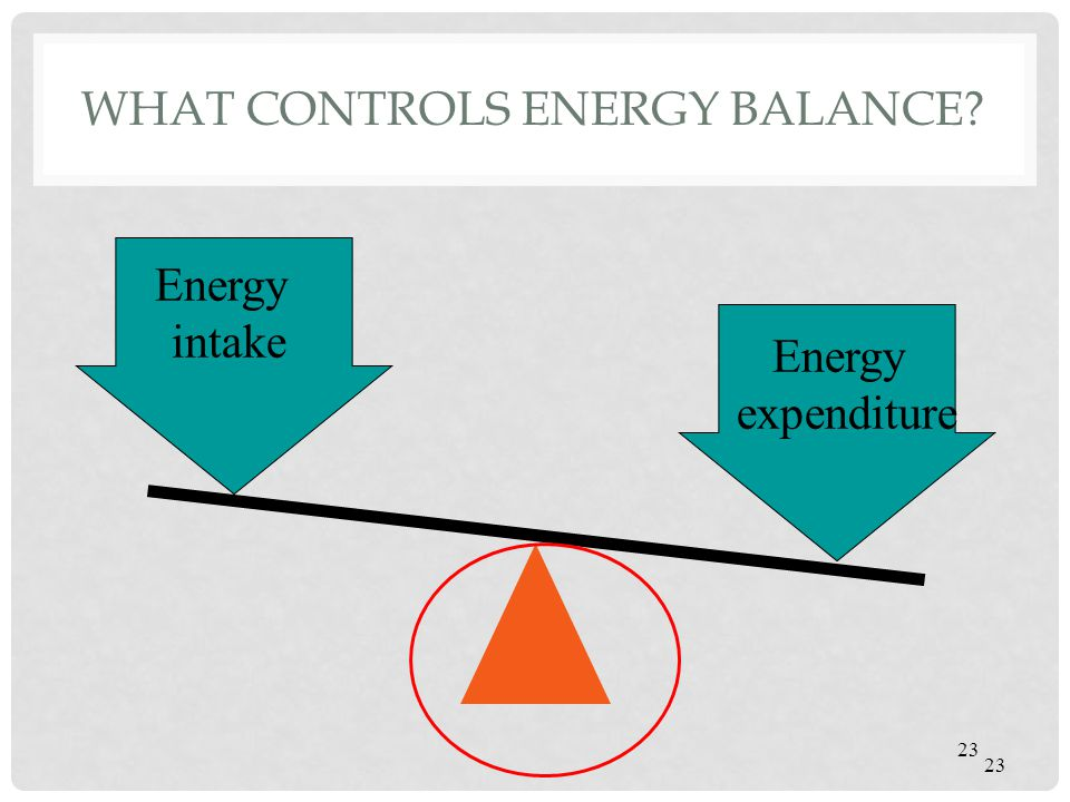 What controls energy balance
