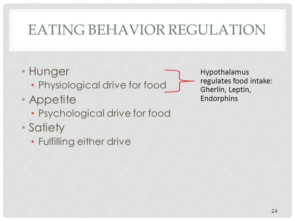 Eating Behavior Regulation