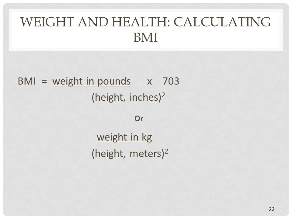 Weight and Health: Calculating BMI