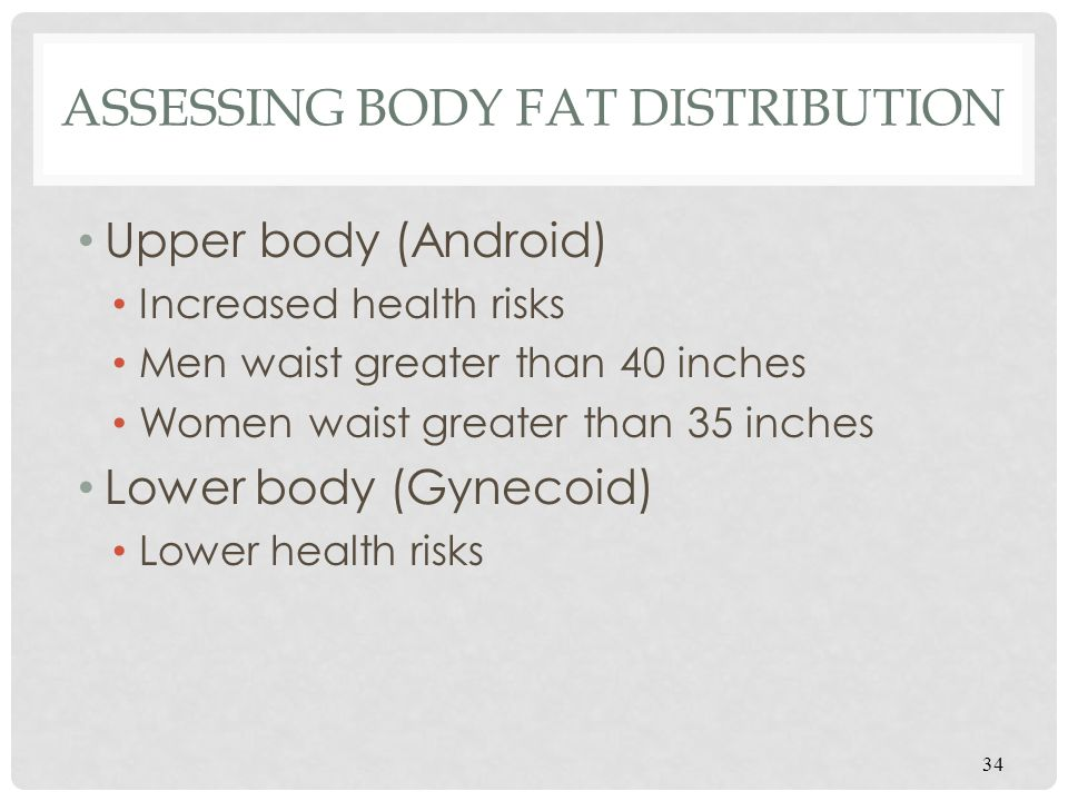 Assessing Body Fat Distribution