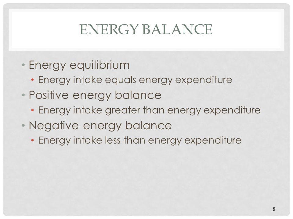 Energy Balance Energy equilibrium Positive energy balance