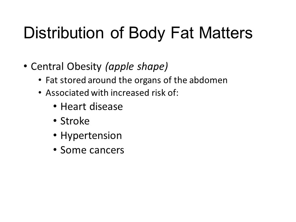 Distribution of Body Fat Matters