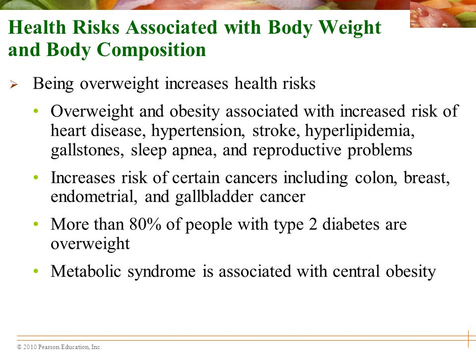 Health Risks Associated with Body Weight and Body Composition