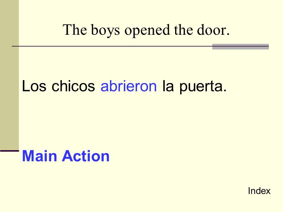 The boys opened the door.