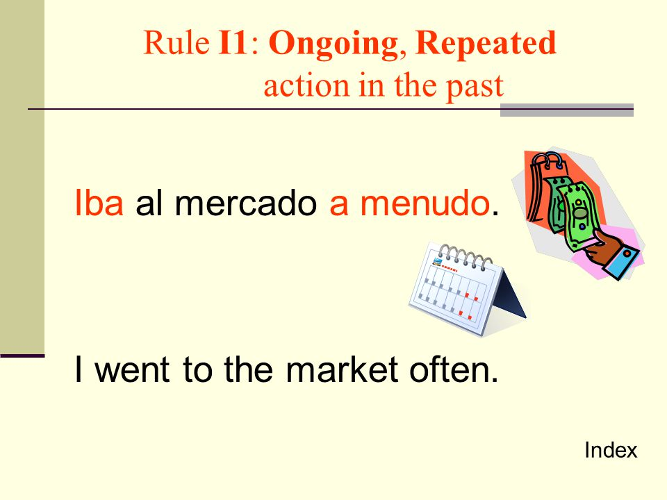 Rule I1: Ongoing, Repeated action in the past