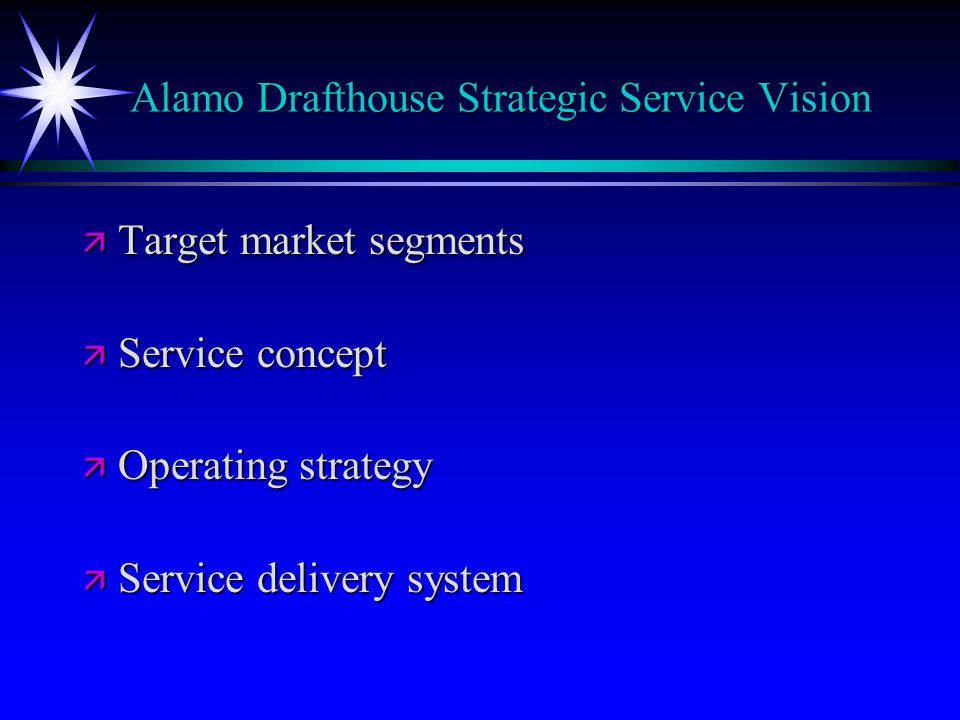 Alamo Drafthouse Strategic Service Vision