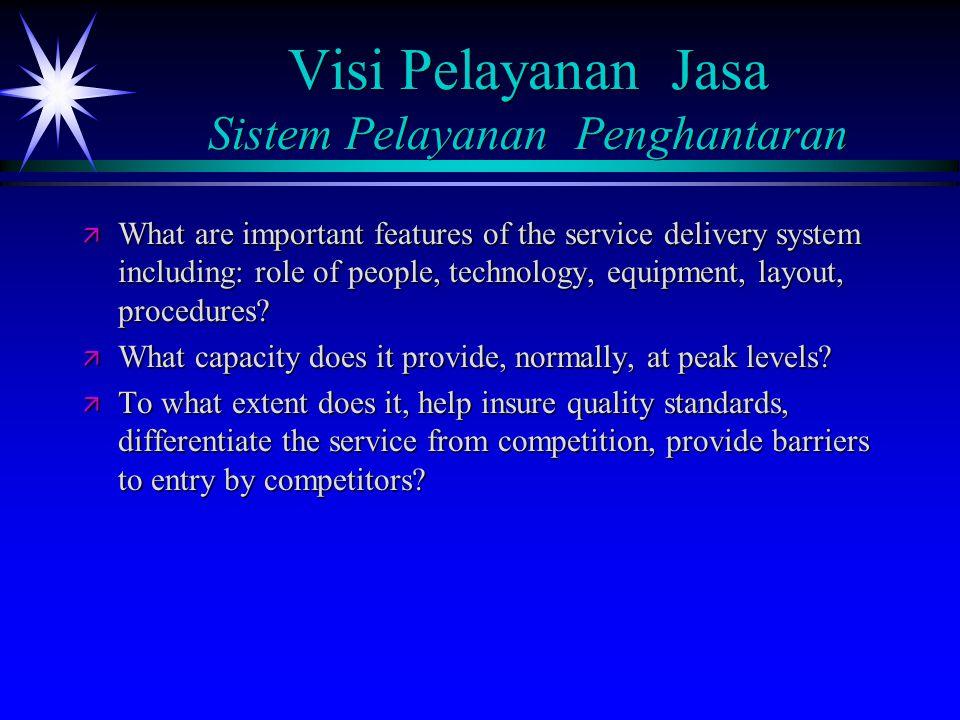 Visi Pelayanan Jasa Sistem Pelayanan Penghantaran