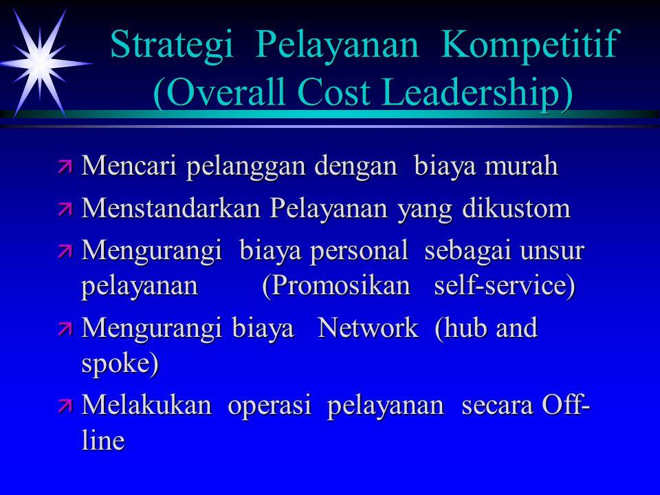 Strategi Pelayanan Kompetitif (Overall Cost Leadership)