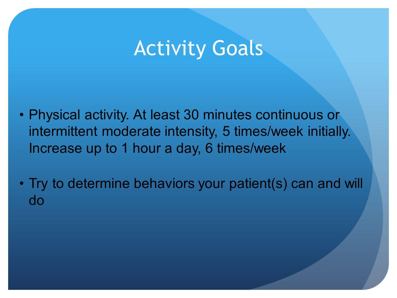 Activity Goals