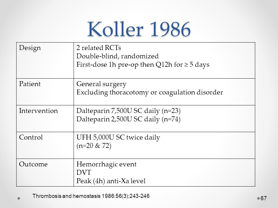 Koller 1986 Design 2 related RCTs Double-blind, randomized
