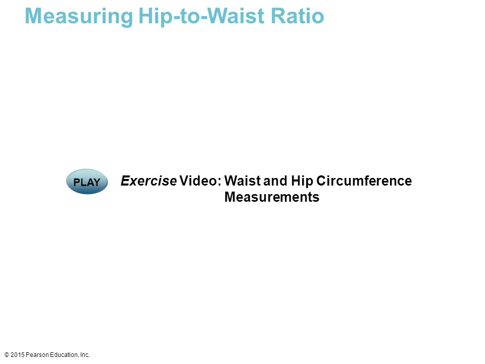 Measuring Hip-to-Waist Ratio
