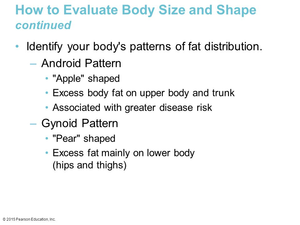 How to Evaluate Body Size and Shape continued
