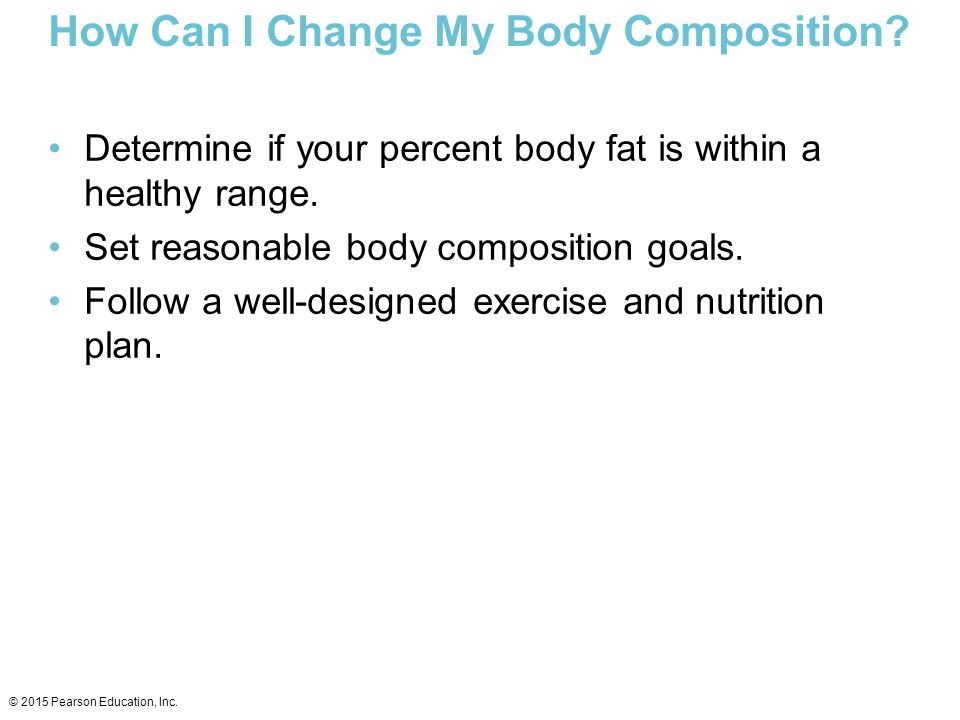 How Can I Change My Body Composition
