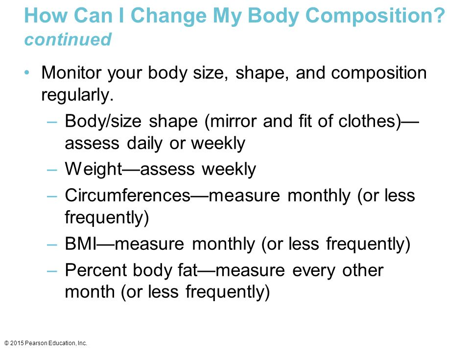 How Can I Change My Body Composition continued