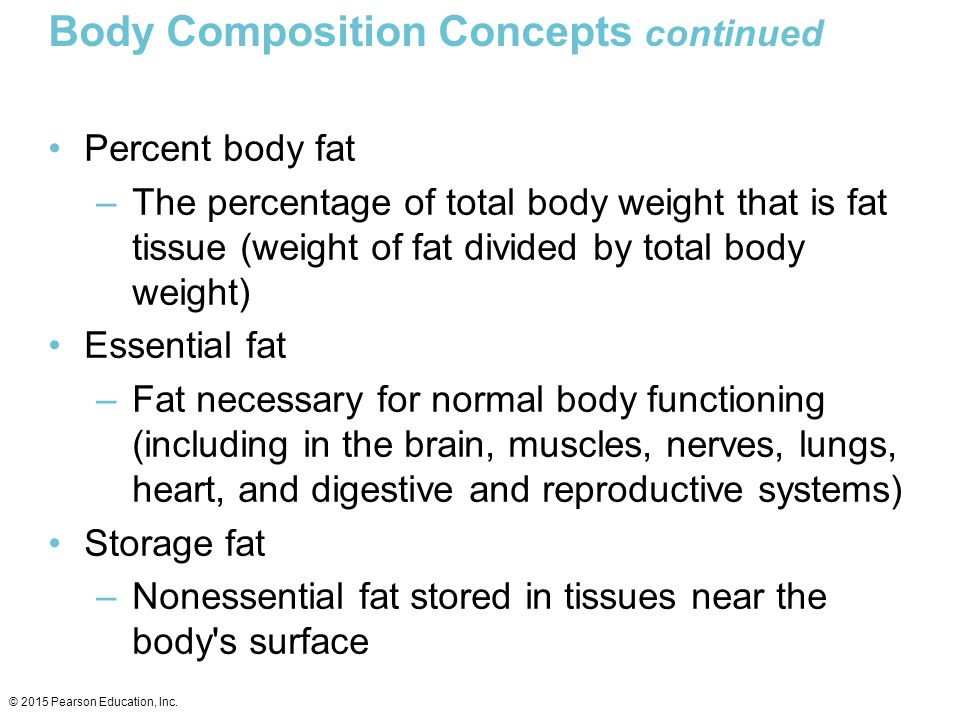 Body Composition Concepts continued