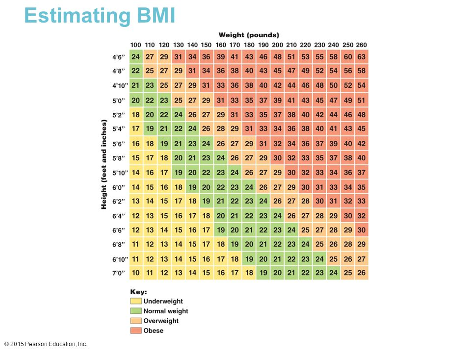 Estimating BMI © 2015 Pearson Education, Inc.