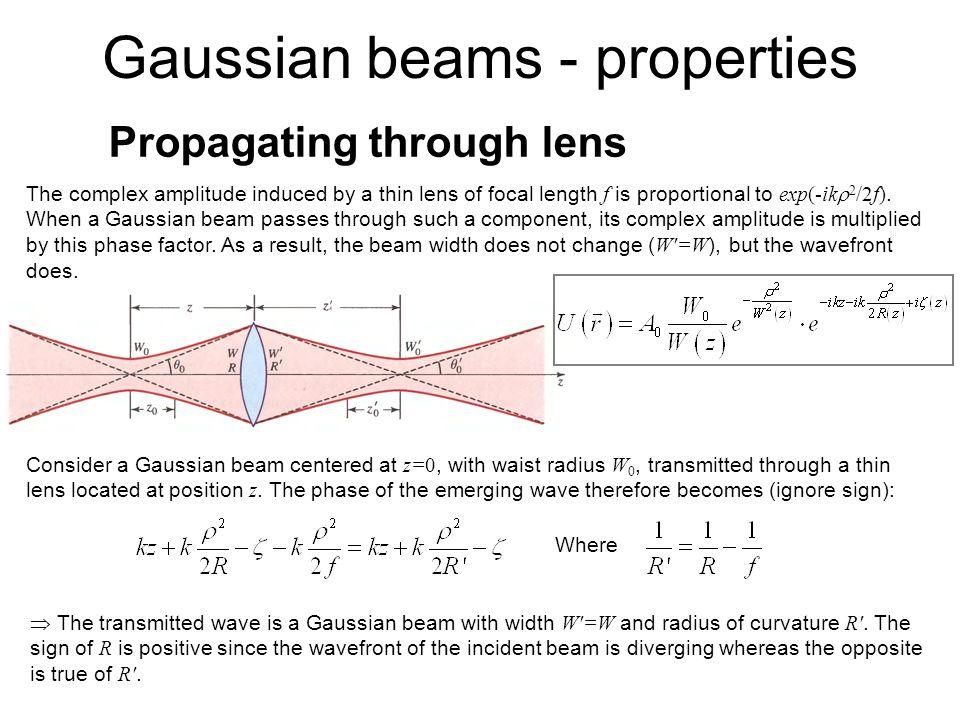 Propagating through lens