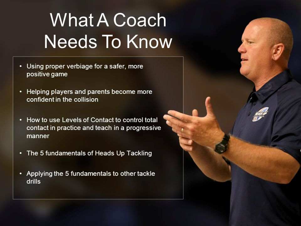 What A Coach Needs To Know