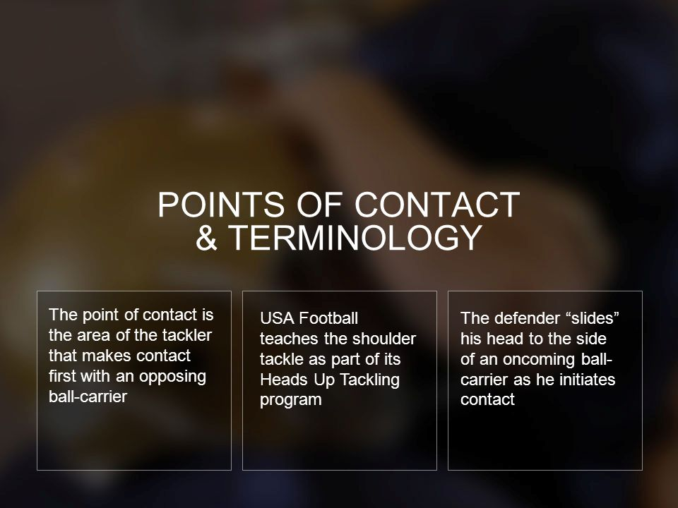 POINTS OF CONTACT & TERMINOLOGY