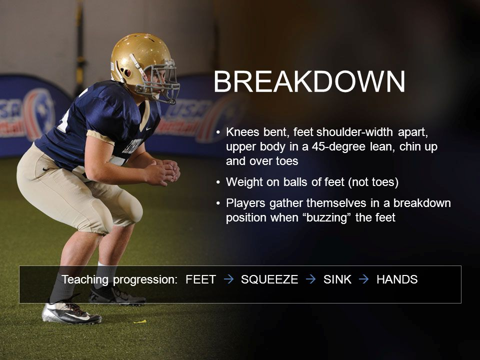 Teaching progression: FEET  SQUEEZE  SINK  HANDS