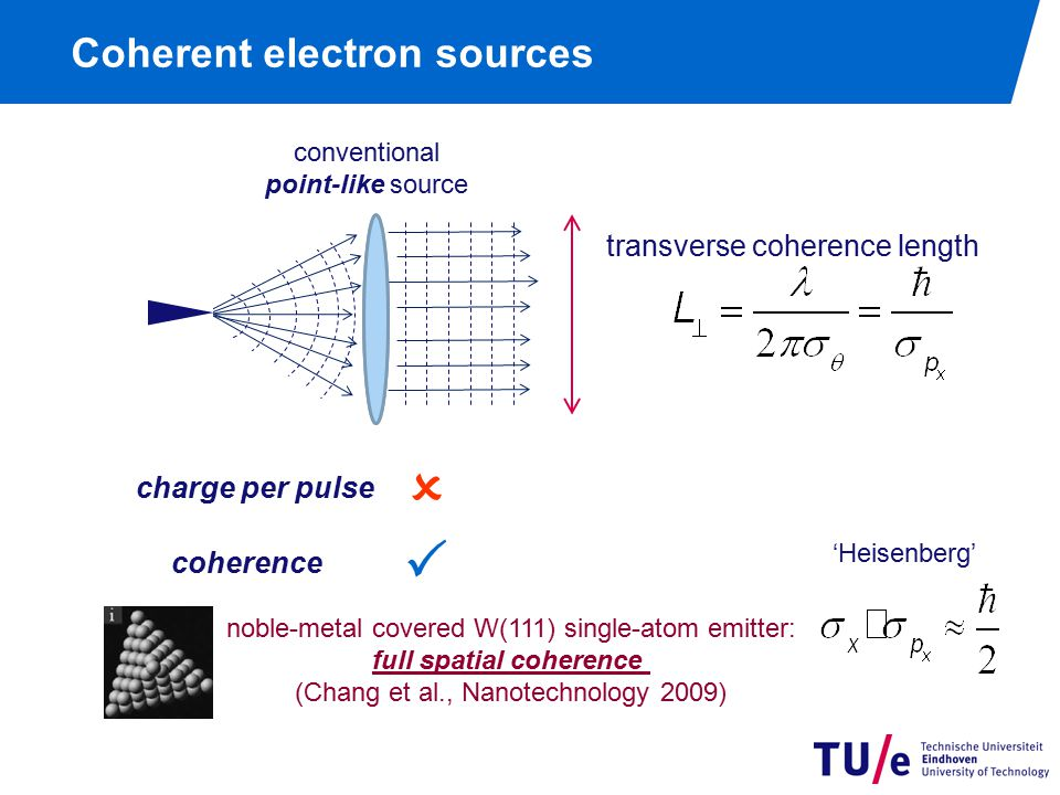 Coherent electron sources