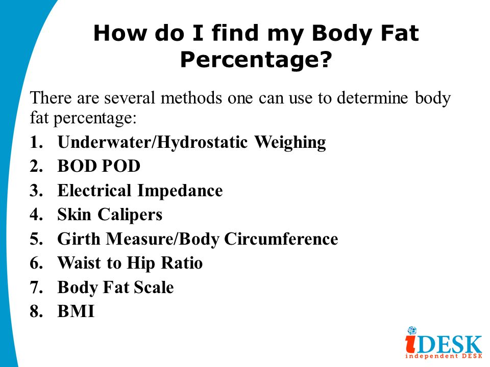 How do I find my Body Fat Percentage