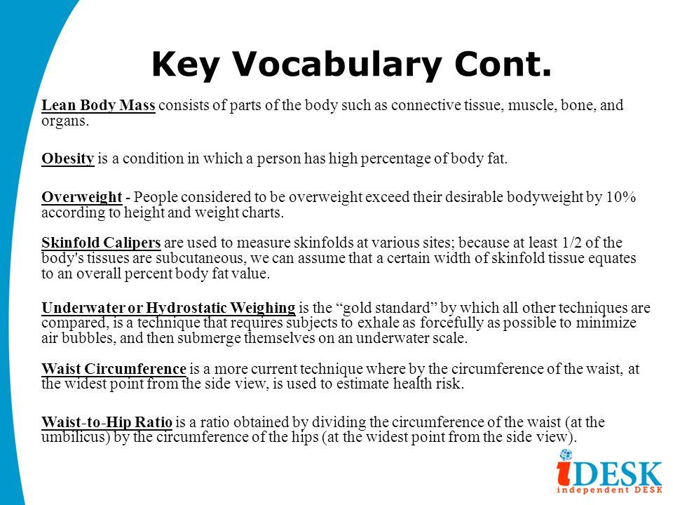 Key Vocabulary Cont.