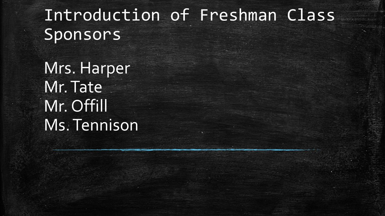 Introduction of Freshman Class Sponsors