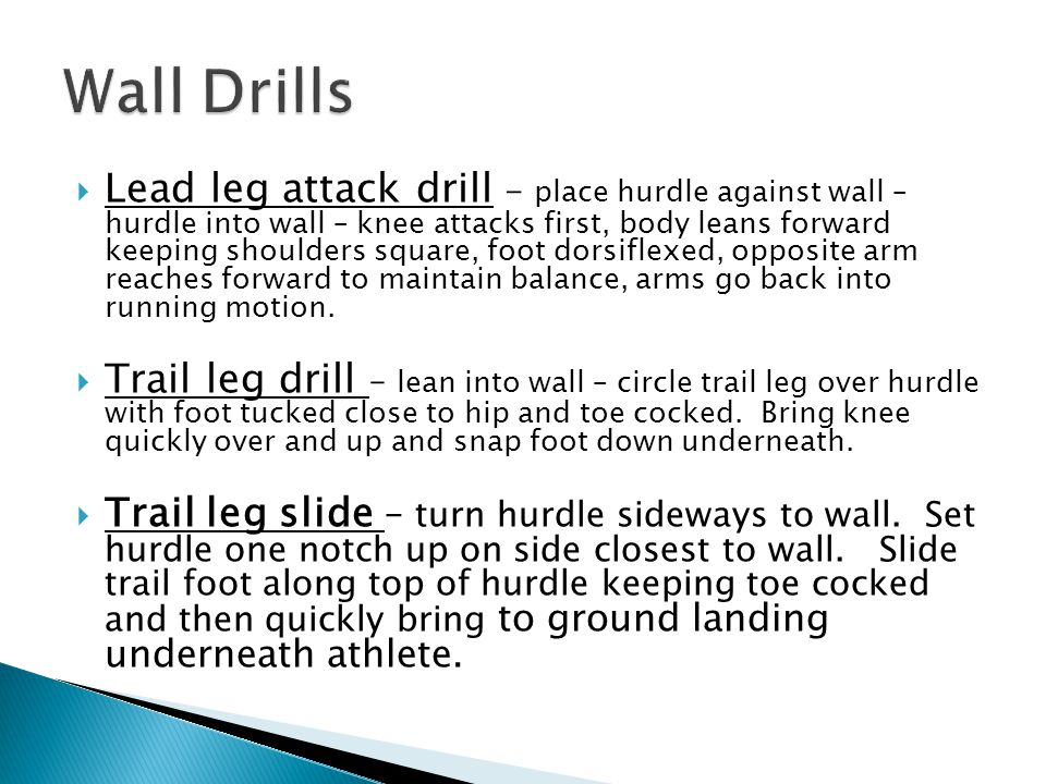 Wall Drills