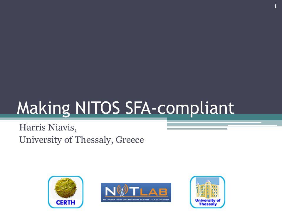 Making NITOS SFA-compliant