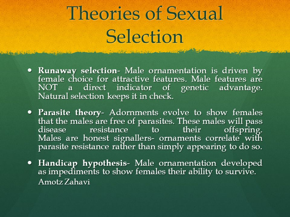 Theories of Sexual Selection