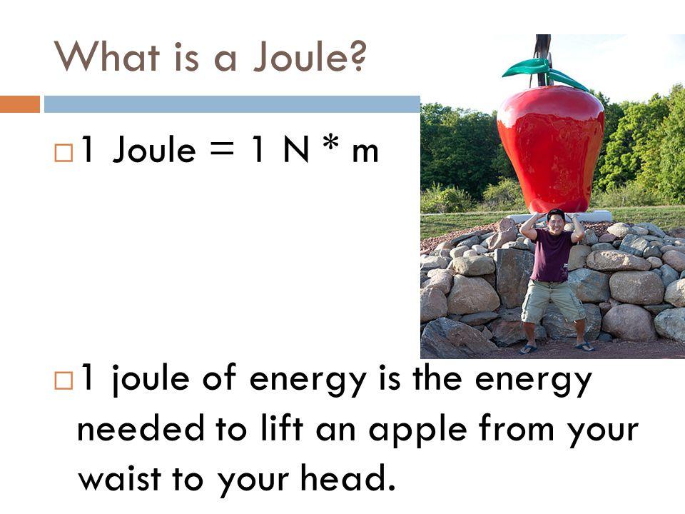 What is a Joule 1 Joule = 1 N * m