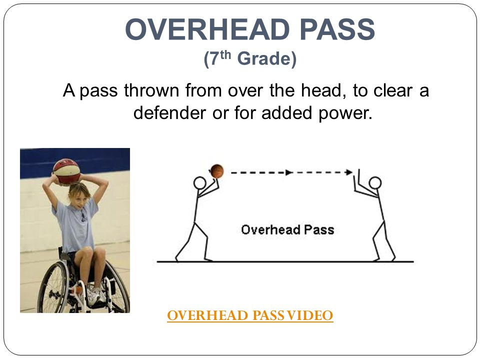OVERHEAD PASS (7th Grade)