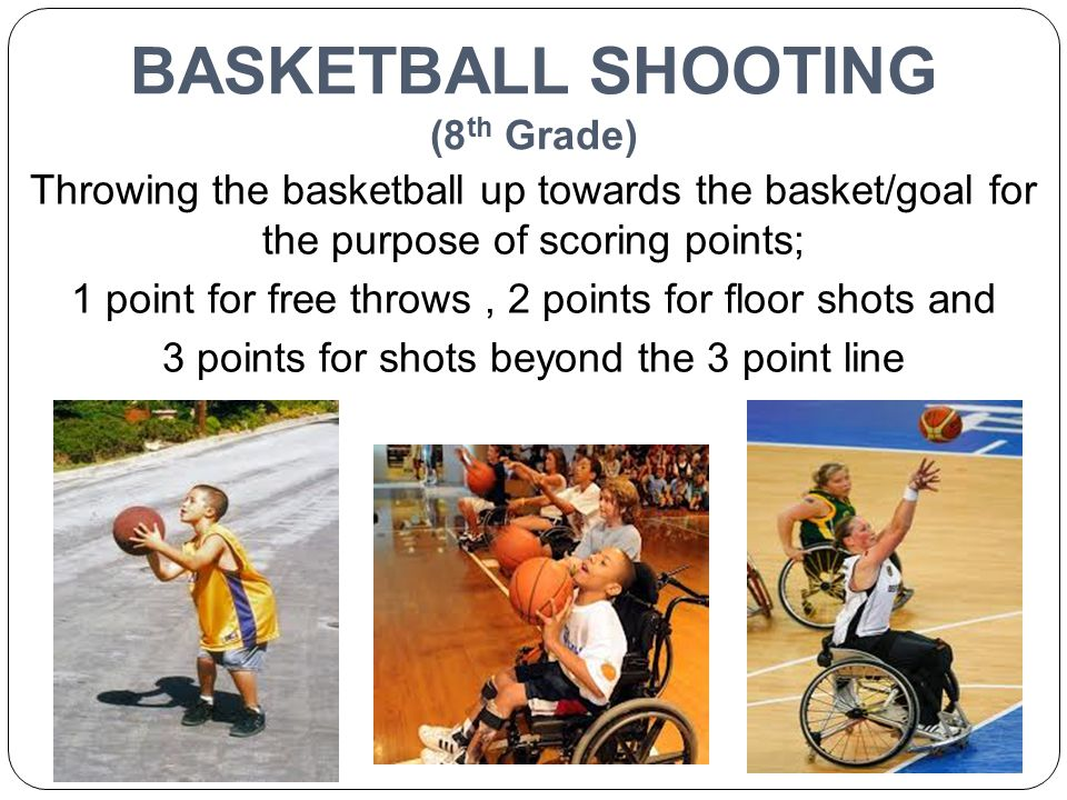 BASKETBALL SHOOTING (8th Grade)