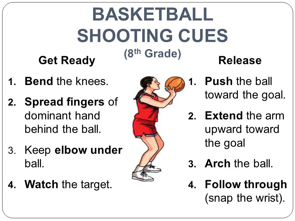BASKETBALL SHOOTING CUES (8th Grade)