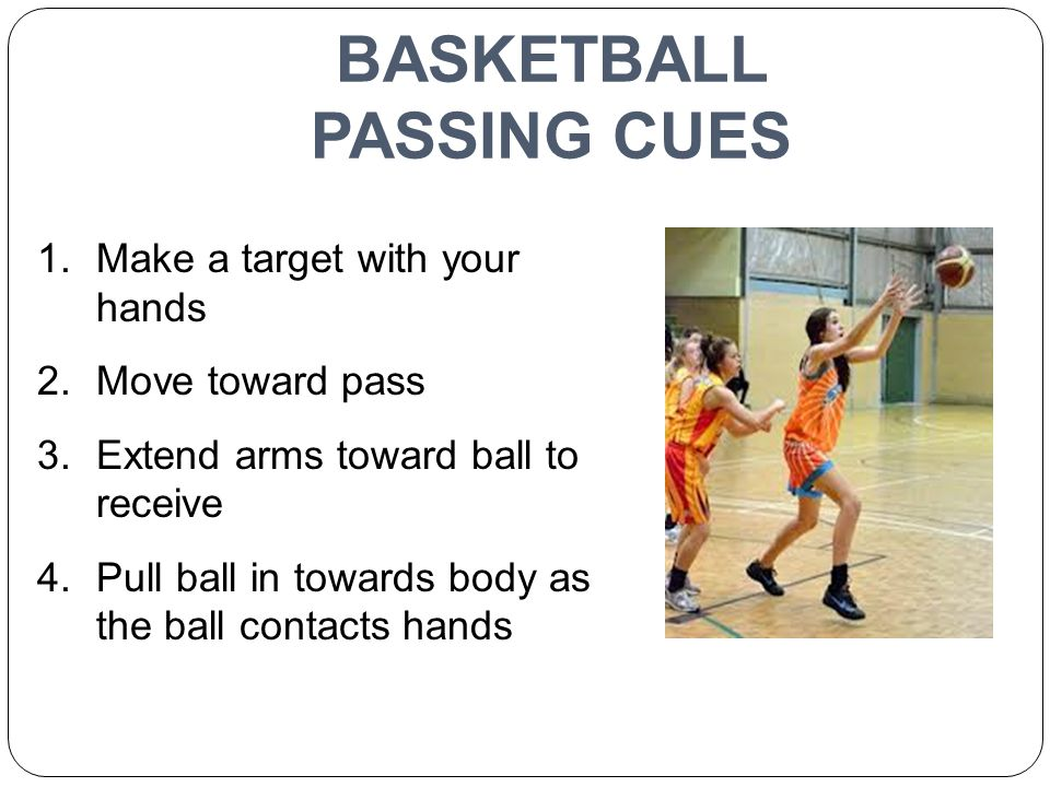 BASKETBALL PASSING CUES