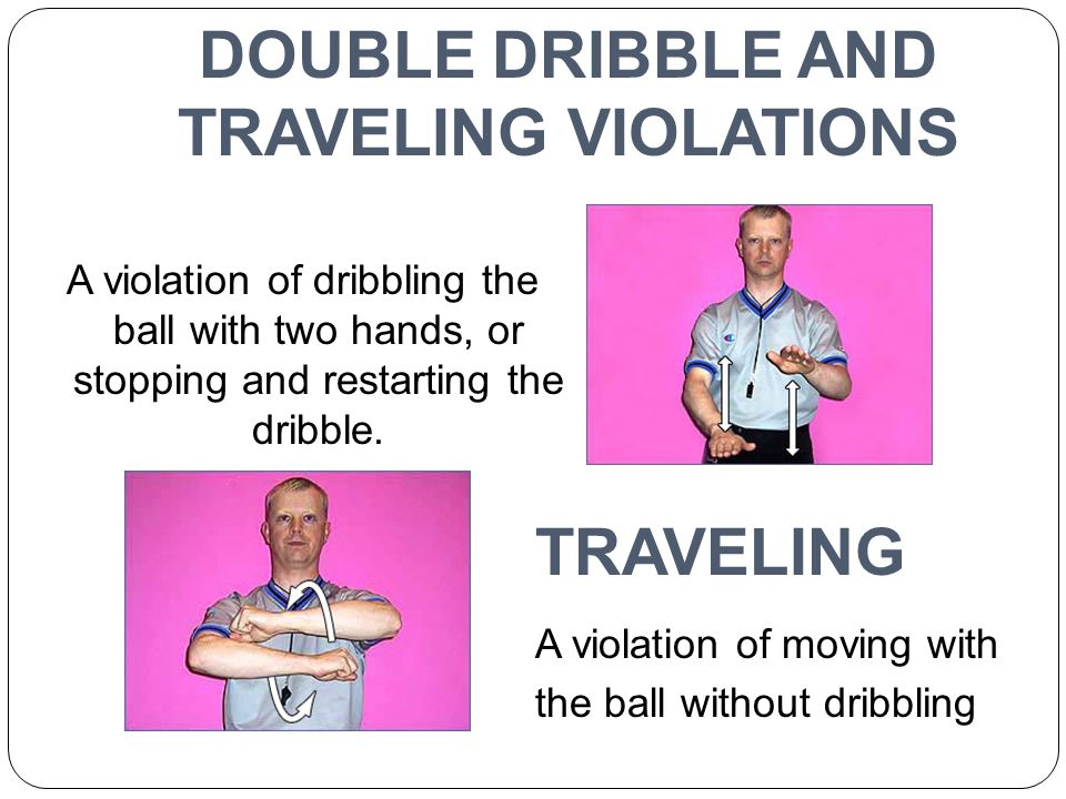 DOUBLE DRIBBLE AND TRAVELING VIOLATIONS