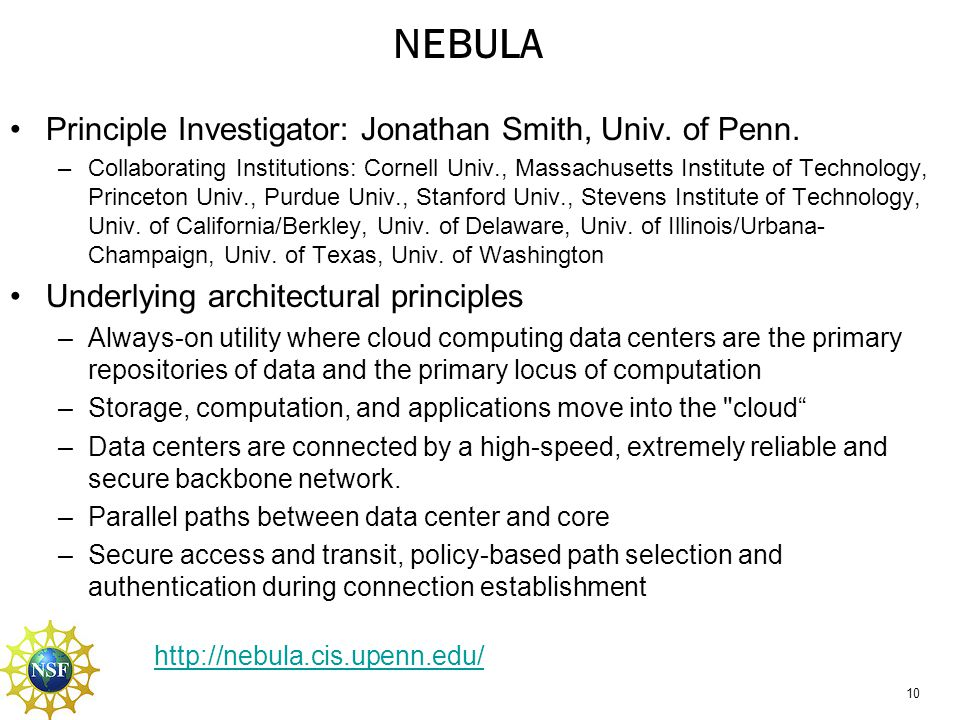 NEBULA DP/CP Redundancy Data plane and control plane separation