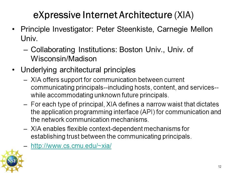 eXpressive Internet Architecture (XIA)