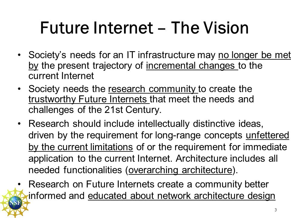 Future Internet – The Vision