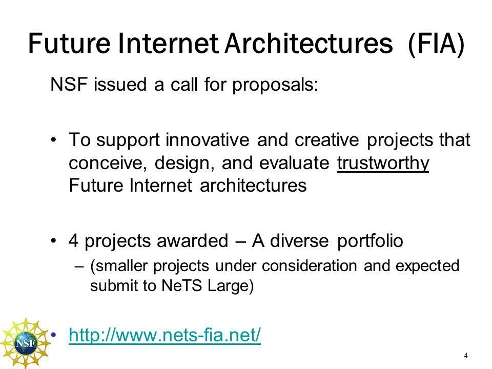 Future Internet Architectures (FIA)