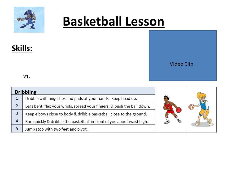 Basketball Lesson Skills: Video Clip 21. Dribbling 1 2 3 4 5