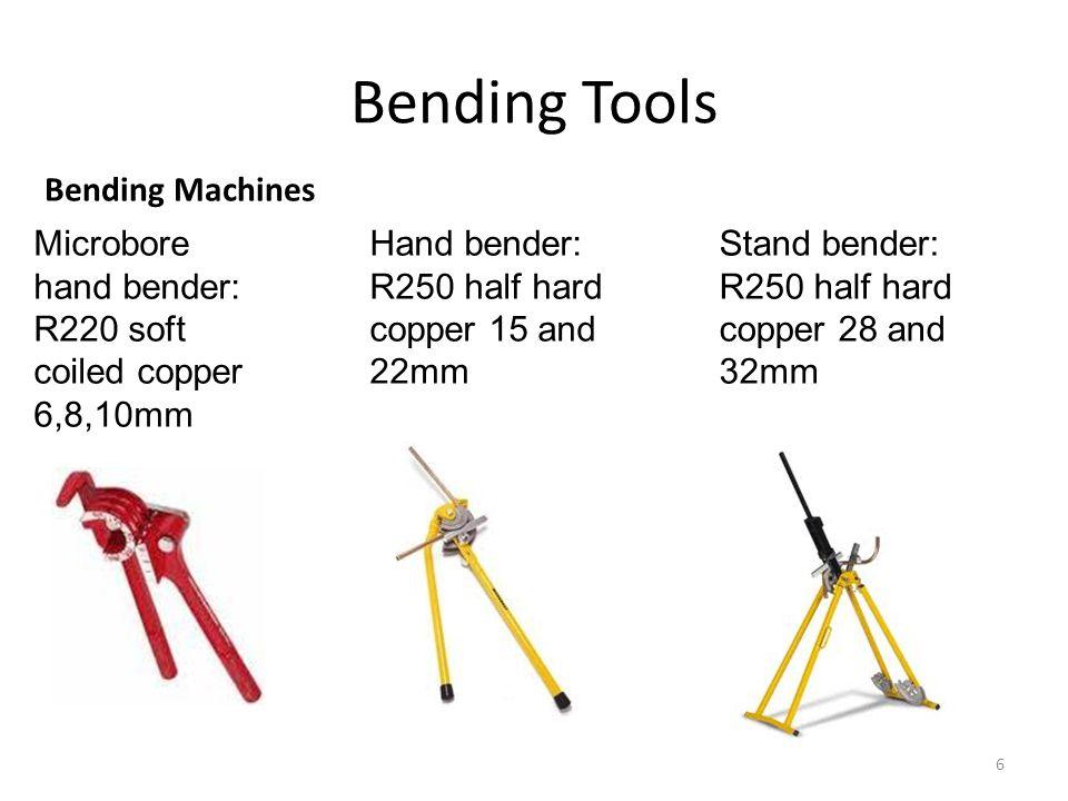 Bending Tools Bending Machines Microbore hand bender: