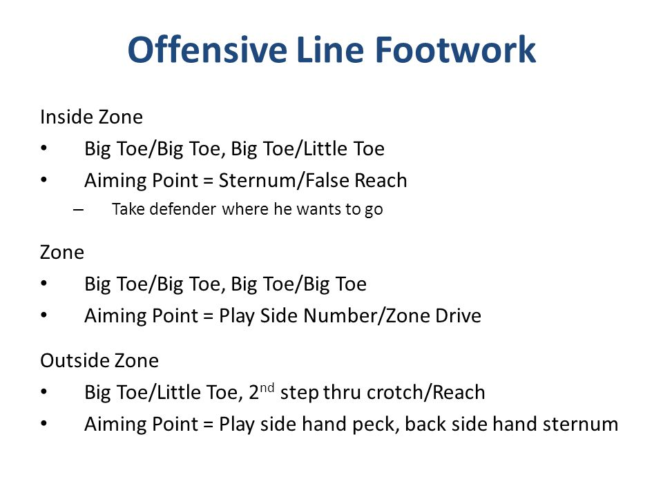 Offensive Line Footwork